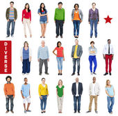 Group of Diverse Multiethnic Colorful People — Stock Photo