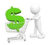 Man doing Green shopping — Stock Photo