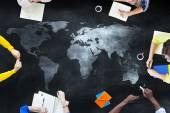 Students Studying About Global Issues — Stock Photo
