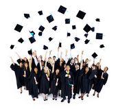 Graduating hats — Stock Photo