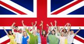 People With British Flag — Foto Stock