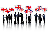 People Discussing About United Kingdom — Stock Photo
