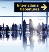 Group of People in the Airport — Stock Photo