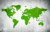 Green Cartography Of World — Stock Photo