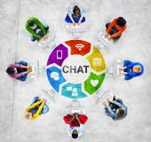 People with Chat Concept — Stock Photo