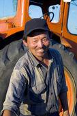 Mongolian farmer — 图库照片