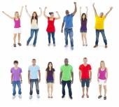 Group of People Standing — Stock Photo