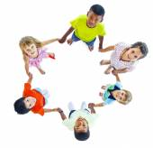 Group of Children Holding Hand — Stock Photo