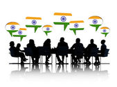Business People Discussing About India — Foto de Stock