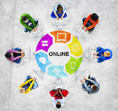 People and Online Concept — Stock Photo