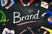 People and Brand Concept — Stock Photo