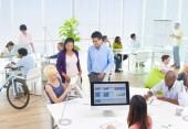 Group of Business People in the Office — Stock Photo