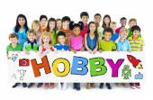 Group of Children with Hobby Concept — Stock Photo