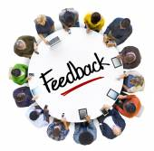 Group of People with Feedback Concept — Stock Photo