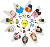 Group of Children and Inspiration Concept — Stock Photo