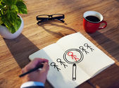 Businessman Drawing Individuality Concept — Stock Photo