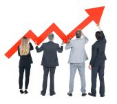 Business People on Economic Recovery — Stock Photo
