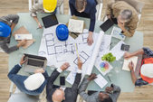 Architects and Engineers Planning — Stock Photo