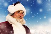 Santa in winter wonderland — Stock Photo