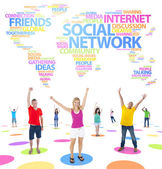 Youth Social Networking — Stock Photo