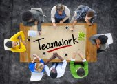 People and Single Word Teamwork — Stock Photo