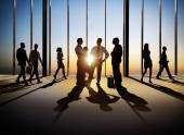 Business people in building interior — Foto de Stock