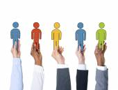 People Holding Individuality Concepts — Stock Photo