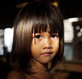 Little girl staring at the camera — Stock Photo