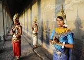 Cambodian Greeting Style — Stock Photo