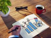 Businessman Brainstorming on Teamwork Concept — Photo