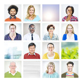 Portrait of Multiethnic Diverse World People — Stock Photo