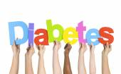 People Holding word Diabetes — Stock Photo