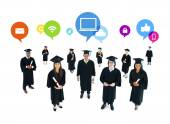 The Social Networking of Graduating Students — 图库照片