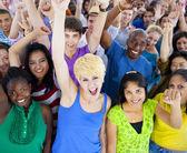 Large Group of People Celebrating — Stock Photo