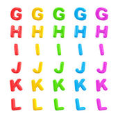 English multi coloured alphabet — Stock Photo