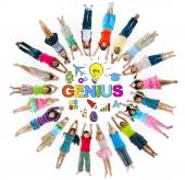 Group of Children and Genius Concept — Stockfoto