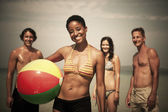 Adults on tropical beach — Stock Photo