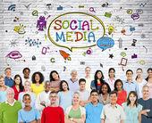 Social Media Communications — Stock Photo