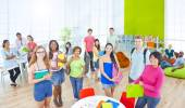 Group of Student in University — Foto Stock