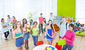 Group of Student in University — Stock Photo