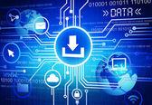 Data file sharing — Stock Photo
