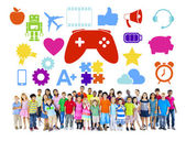 Diverse Group of Children with Hobbies — Stock Photo