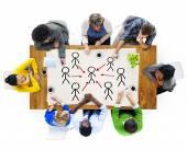 Människor och ledarskap begrepp — Stockfoto
