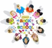 Gruppo di bambini e concetto di formazione — Foto Stock