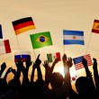 People Holding Flags of Various Countries — Stock Photo #52470805