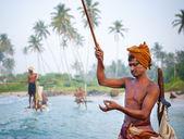 Stilt fishermen in Sri Lanka — Stock Photo
