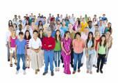 Large group of Multi-ethnic people — Stock Photo