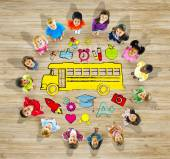 Group of Children and School Concept — Stock Photo