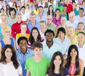 Large Group of multi- ethnic people — Foto Stock