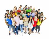 Multi-ethnic group of young adult — Foto Stock
